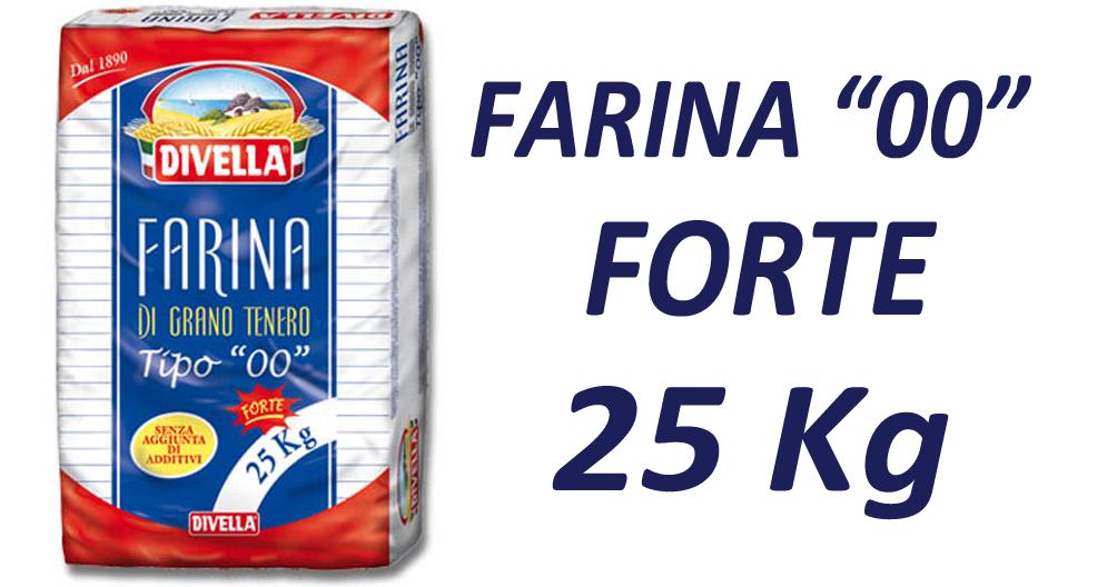 Farina Grano Tenero 00 Forte Kg 25 Divella